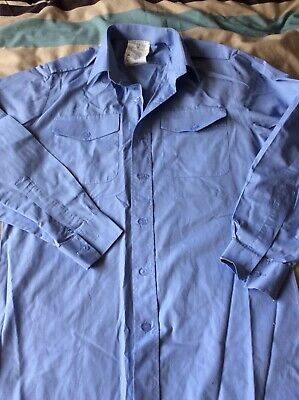 Air Cadets Light Blue Long Sleeve Shirt 36, Used Uniform • 3£