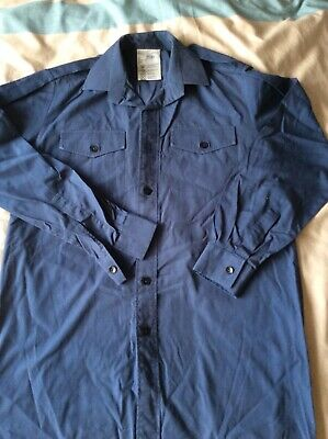 Air Cadets Dark Blue Longsleeved Shirt 35/37, Used Uniform  • 3£