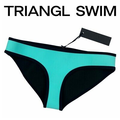 $ CDN37 • Buy Triangl Swimwear NWT Neoprene Bikini Bottoms Size Medium Women's Blue Designer