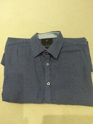 M & S Collection Mens Tailored Fit Long Sleeved Shirt 16.5 Immaculate  • 5£