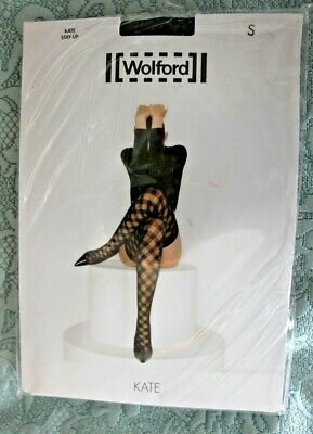 Wolford Kate Hold Up Stockings Black/Black Small BNIP • 8£
