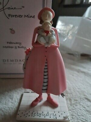 BNIB ENESCO CLAIRE Forever Mine February Mother And Baby Figure  • 2£