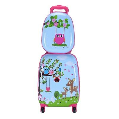 £74.99 • Buy Children's Animal Print ABS Trolley Suitcase And Backpack Luggage