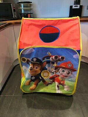 Pop Up Play Tent Paw Patrol Wendy House Roll Up Door Window With Peek-a-boo Hole • 7£