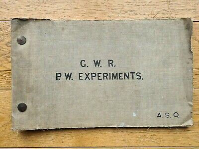 G.W.R. P.W. EXPERIMENTS Great Western Railway Ledger Of Track Trials & Tests  • 17.98£