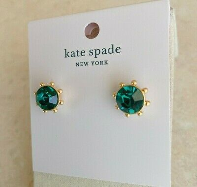 $ CDN30.62 • Buy Kate Spade  Flying Colors  Prong Set Crystal Stud Earrings, Emerald Green, NWT