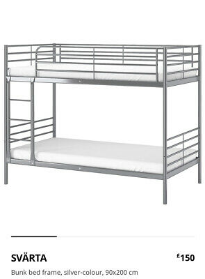 IKEA Svärta Bunk Bed With Malfors Mattresses Included • 149£