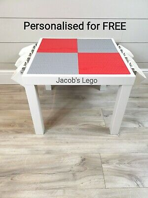 £45 • Buy LEGO Table Grey & Red Base Plate Organised Storage Play Set Up Personalised