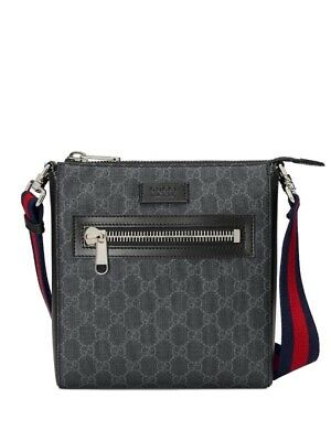 $ CDN799.99 • Buy GUCCI GG Supreme SMALL Black Messenger Bag