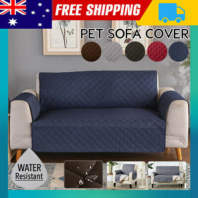 AU19.80 • Buy Sofa Cover 1/2/3 Seater Pet Dog Quilted Couch Chair Lounge Protector Slipcovers