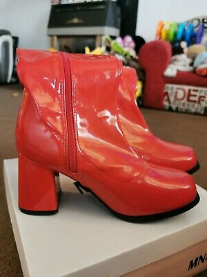 Red Gogo Boots Size 5 • 20£