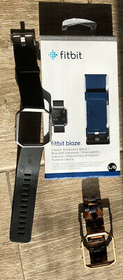 $ CDN12.72 • Buy Fitbit Blaze Band Lot Size L Blue Black And Turtle Shell Size M