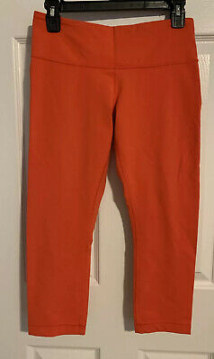 $ CDN31.90 • Buy Lululemon Wunder Under Alarming Crop Leggings Pants Size 8