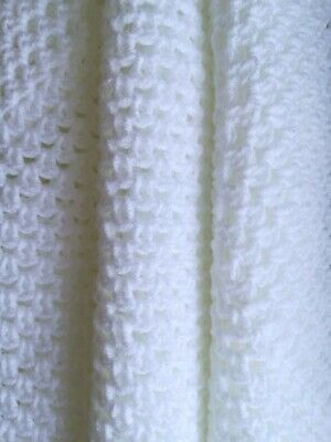 Handmade Crochet Cover White Approx 33 X 28  Blanket,buggy,cover Shawl • 8.50£