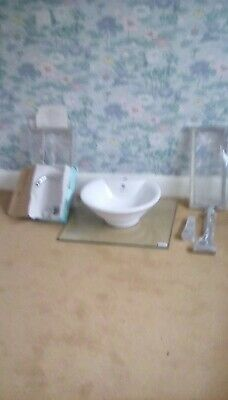 Glass Counter Top Unit With Round Bowl And Tap. New From NEXT Never Used • 25£
