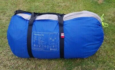 Outwell Hartford XL 6 Man Four Room Family Dome Tent (PLEASE NOTE No Poles/pegs) • 10£