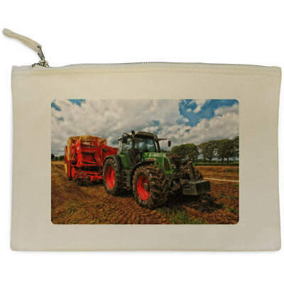 AU22.99 • Buy 'Tractor' Canvas Clutch Bag / Accessory Case (CL00003260)