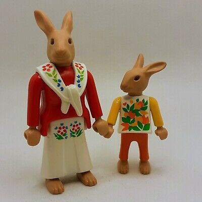 PLAYMOBIL RABBITS, Animal Figures, Musical Instruments & Easter Eggs, Pre-owned • 6£