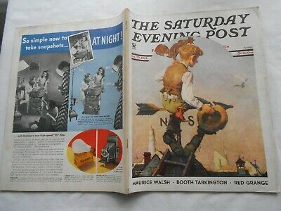$ CDN44.51 • Buy THE SATURDAY EVENING POST-OCT 20,1934-by NORMAN ROCKWELL