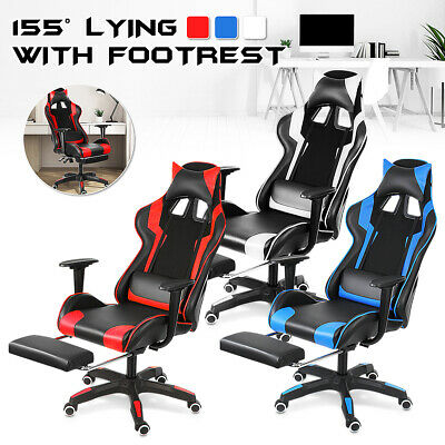 AU145 • Buy Gaming Chair Office Computer Seating Racing PU Executive Massage Racer Recliner