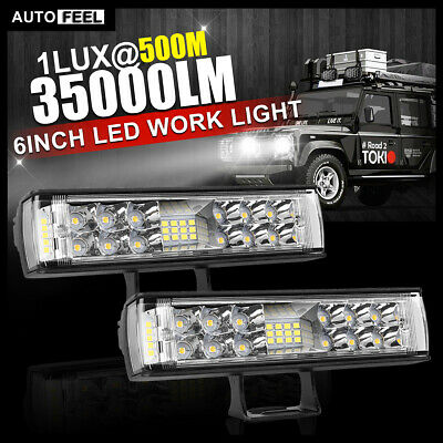 AU38.99 • Buy 2x 6inch LED Light Bar Spot Flood Combo Work Driving Light OffRoad 4WD SUV Truck