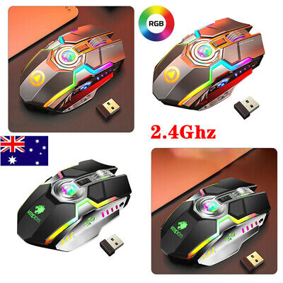 AU19.99 • Buy LED Wireless Gaming Mouse RGB Laser Backlit Ergaonomic Optical Mice For Computer