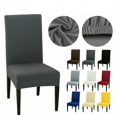 AU3.79 • Buy Dining Chair Covers Spandex Lycra Cover Stretch Washable Wedding Banquet Party