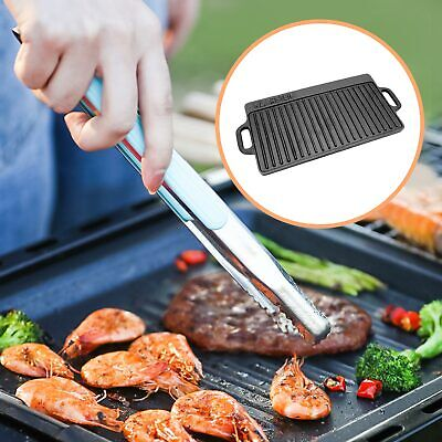 £22.89 • Buy Non-Stick Cast Iron Reversible Griddle Plate Grill Pan Indoor BBQ Hob Cooking