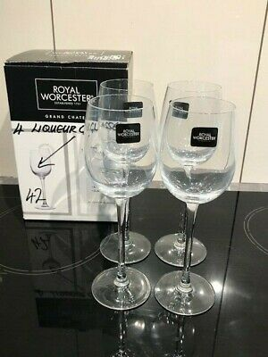 £9.99 • Buy Royal Worcester Grand Chateau: 4 X Liqueur Glasses BOXED & UNUSED