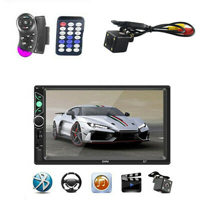 £58.68 • Buy Car FM Audio Stereo MP5 Bluetooth 7  Touch Screen Camera & Steering Wheel Remote