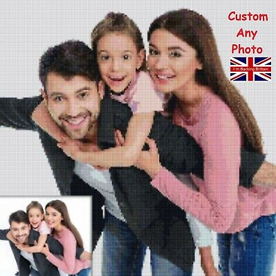 £19.97 • Buy Personalized DIY 5d Diamond Painting UK Full Drill Kits Family Photo Gifts