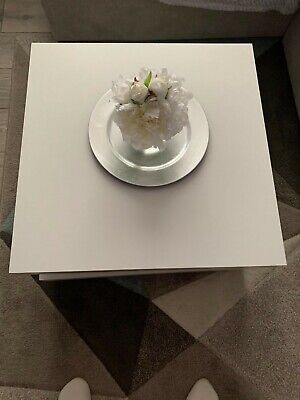 White Matte Swivel Rotating Coffee Table Used In Excellent Condition • 55£