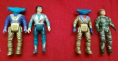 DINO RIDERS Action Figures: Six-Gill Orion Finn Quark S.1 80s Toy TYCO DINOSAURS • 22.99£