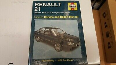 1397 Renault 21 Haynes Service And Repair Manual 1986 To 1994 • 7.50£