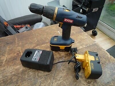 Ryobi Drill/With 2 Batteries & Charger-Model CHI-1802P • 28£