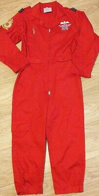 Official Licensed RAF Red Arrows Pilot Flying Suit Overalls Costume - Size 10-11 • 12.99£