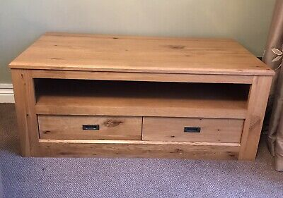 Next Hudson Solid Oak Coffee Table With Drawers • 50£