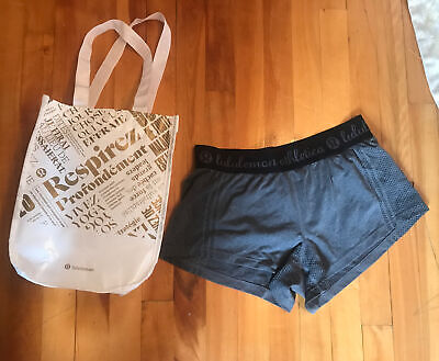$ CDN32 • Buy Lululemon  Shorts Size 6 Gray  & Tote Shopping  Bag