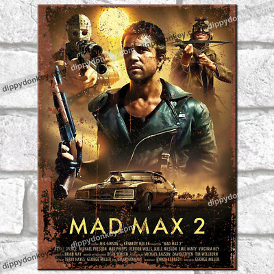 £6.95 • Buy MAD MAX 2 Movie Metal Signs Vintage Retro Wall Poster Garage Shed Film Tin Sign