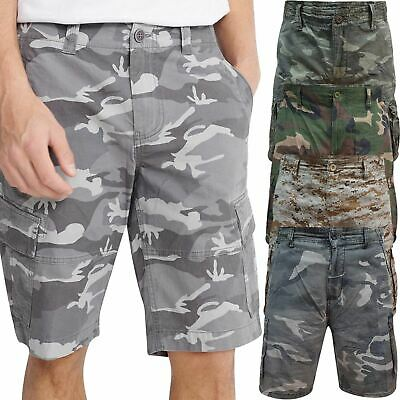 Airwalk Mens Cargo Shorts Camouflage Combat Summer Chino Cotton Camo Half Pants • 12.99£