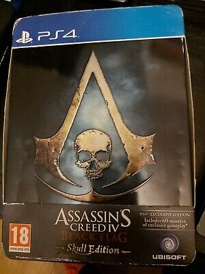 Assassin's Creed IV Black Flag Skull Ed PS4 PlayStation 4 Video Game UK Release • 8£