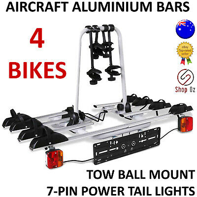 AU295.59 • Buy New 4 BIKE CAR BICYCLE RACK CARRIER Towbar Towball Ball Tow Bar Mount