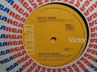 AU8.95 • Buy David Bowie  Ashes To Ashes  1980 RCA Oz 7  45rpm