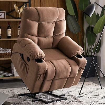 $355.99 • Buy Power Massage Lift Recliner Chair Cup Holder USB Charging Oversize Swivel Sofa