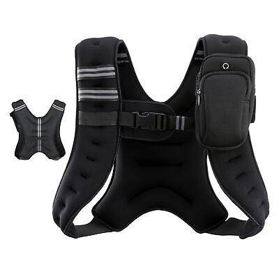 AU33.38 • Buy 5.5kg Weighted Weight Vest Adjustable Crossfit Mma Strength Training Running