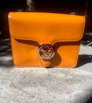 AU1000 • Buy Gucci GG Interlocking Bag - Patent Orange- RRP $2500 - Authentic