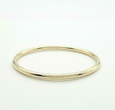 AU399 • Buy Ladies 9ct (375, 9K) Yellow Gold Smooth Plain Round Golf Bangle