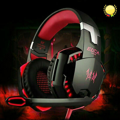 AU19.99 • Buy 3.5mm Gaming Headset MIC LED Headphones Surround For PC Mac Laptop PS4 One Xbox