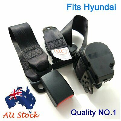 AU41.95 • Buy For Hyundai Black 3-Points Car Universal Safety Seat Belt Seatbelt Top Retractor