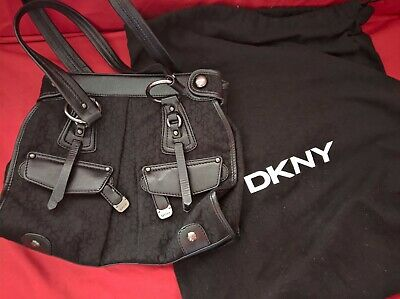 AU40 • Buy DKNY Black Leather Bag, Medium Size, Good Condition And Purse